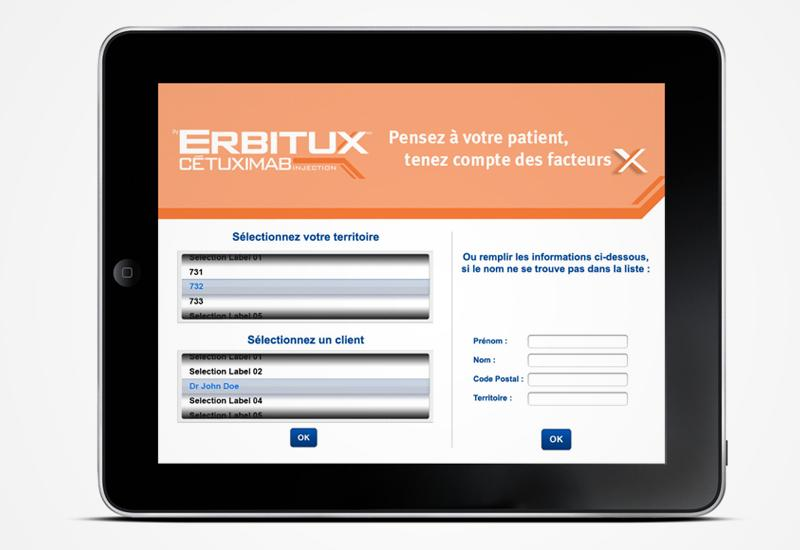 Application iPAD pour Erbitux
